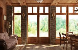 Portes-fenêtre bois