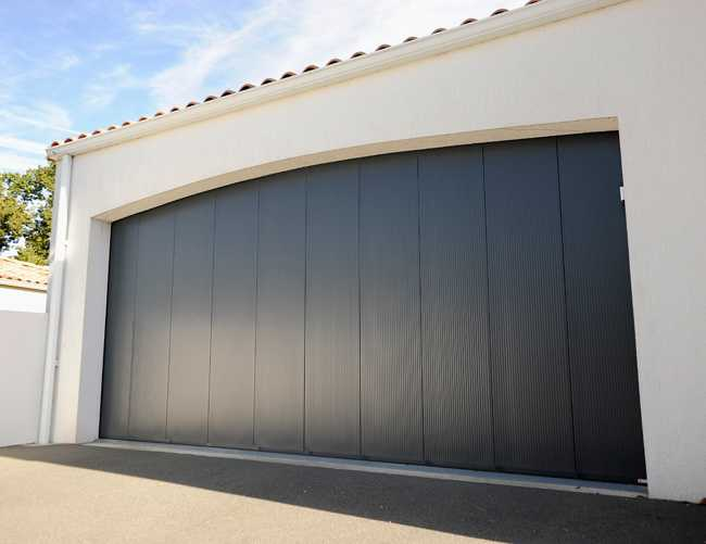 porte de garage design noir